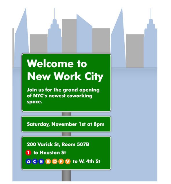 Welcome New Work City! The new coworking facility of New York.