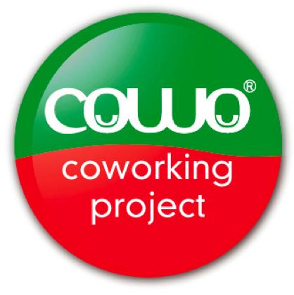 Coworking Cowo Italian Anniversary Logo