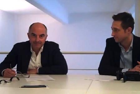 Stefano Micelli e Filippo Berto al Coworking Cowo Milano Lambrate.