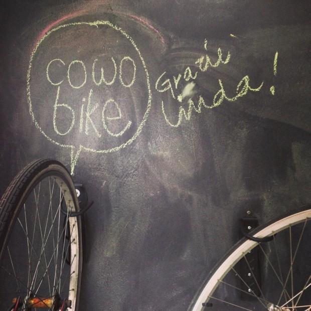 Bicicletta del coworking Cowo Milano Lambrate