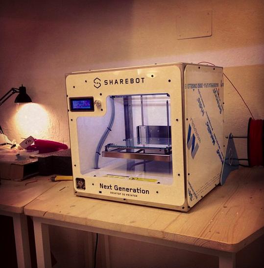 Stampante 3D al coworking Cowo Milano Lambrate