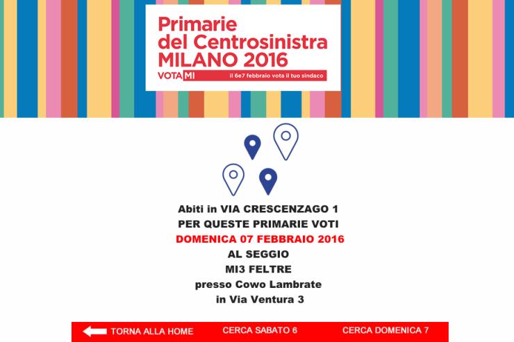 Primarie Milano: il seggio al Coworking Cowo Lambrate