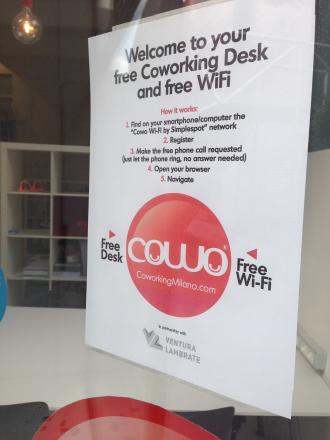 Free Coworking e Free Wifi per il Fuorisalone VenturaLambrate