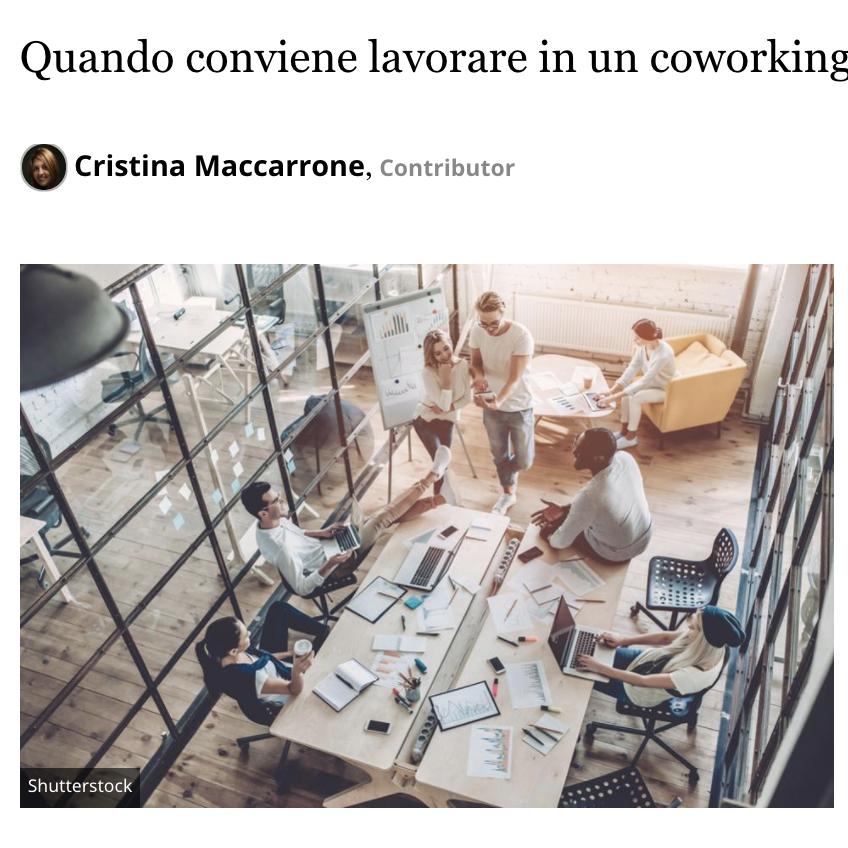 Coworking su Forbes Italia